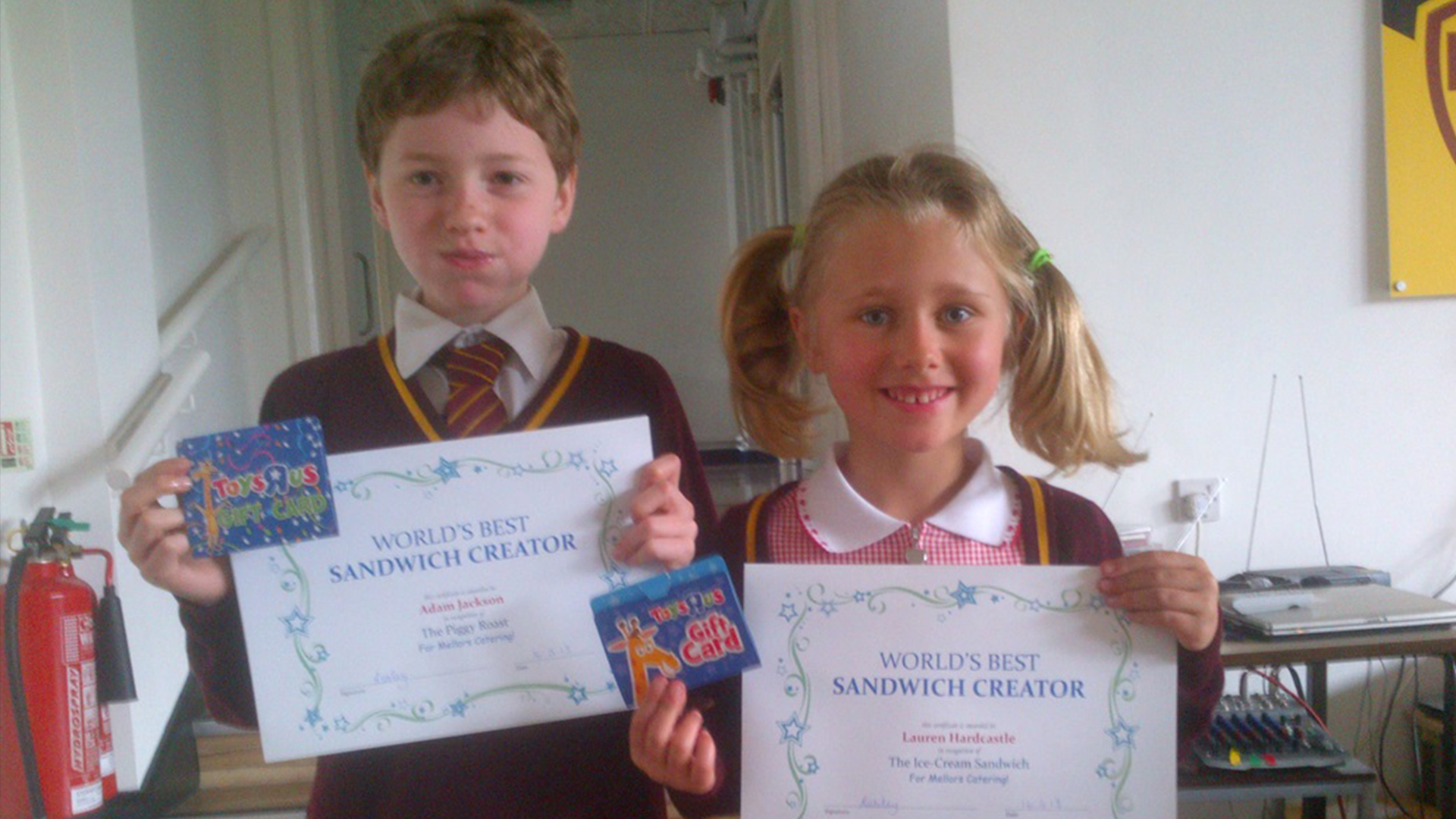 Winners of Mellors Sandwich Creation Competition