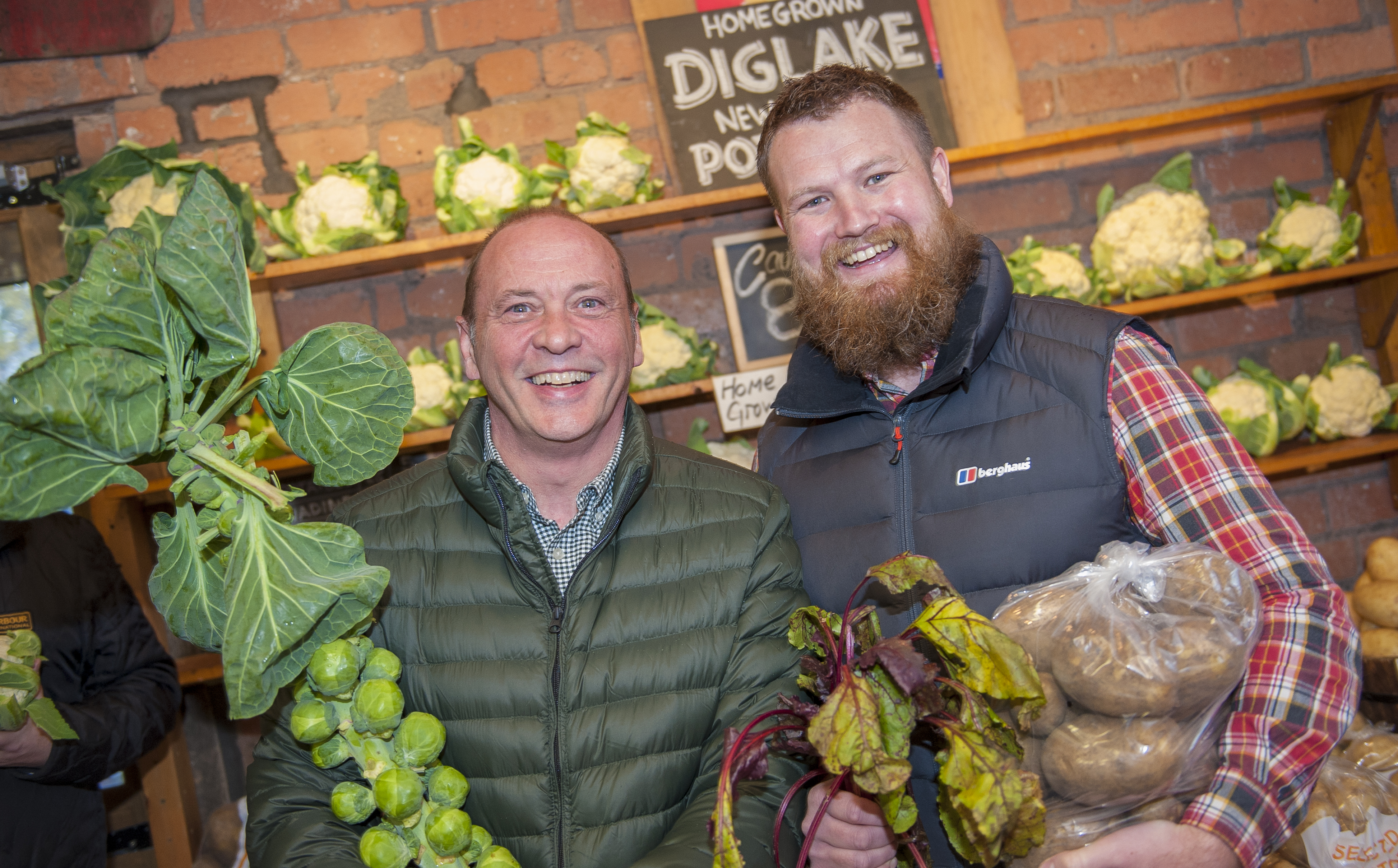 Andy and Brian sourcing local produce