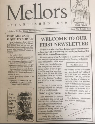 Mellors first newsletter.JPG