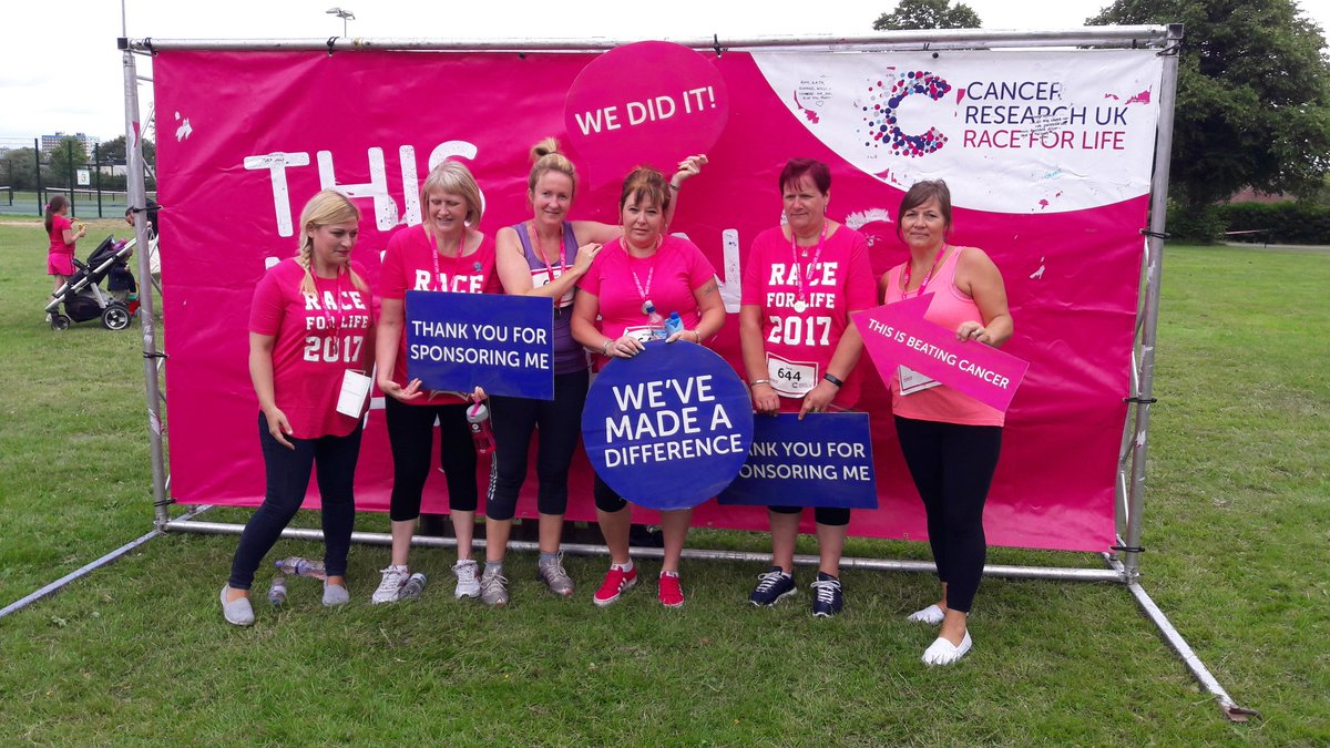 Our fabulous team raising money for Cancer Research