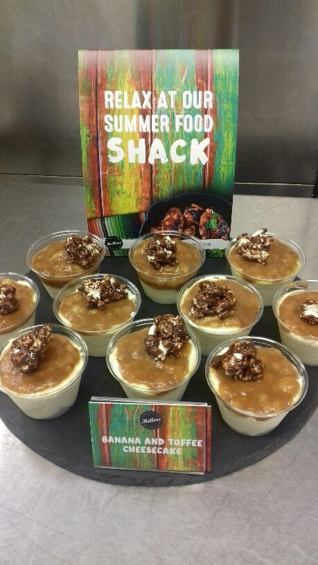 Banana and toffee cheescake from our Summer Food Shack concept