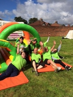 "Having fun at Zoe's Place ""It's a knockout"" charity event"