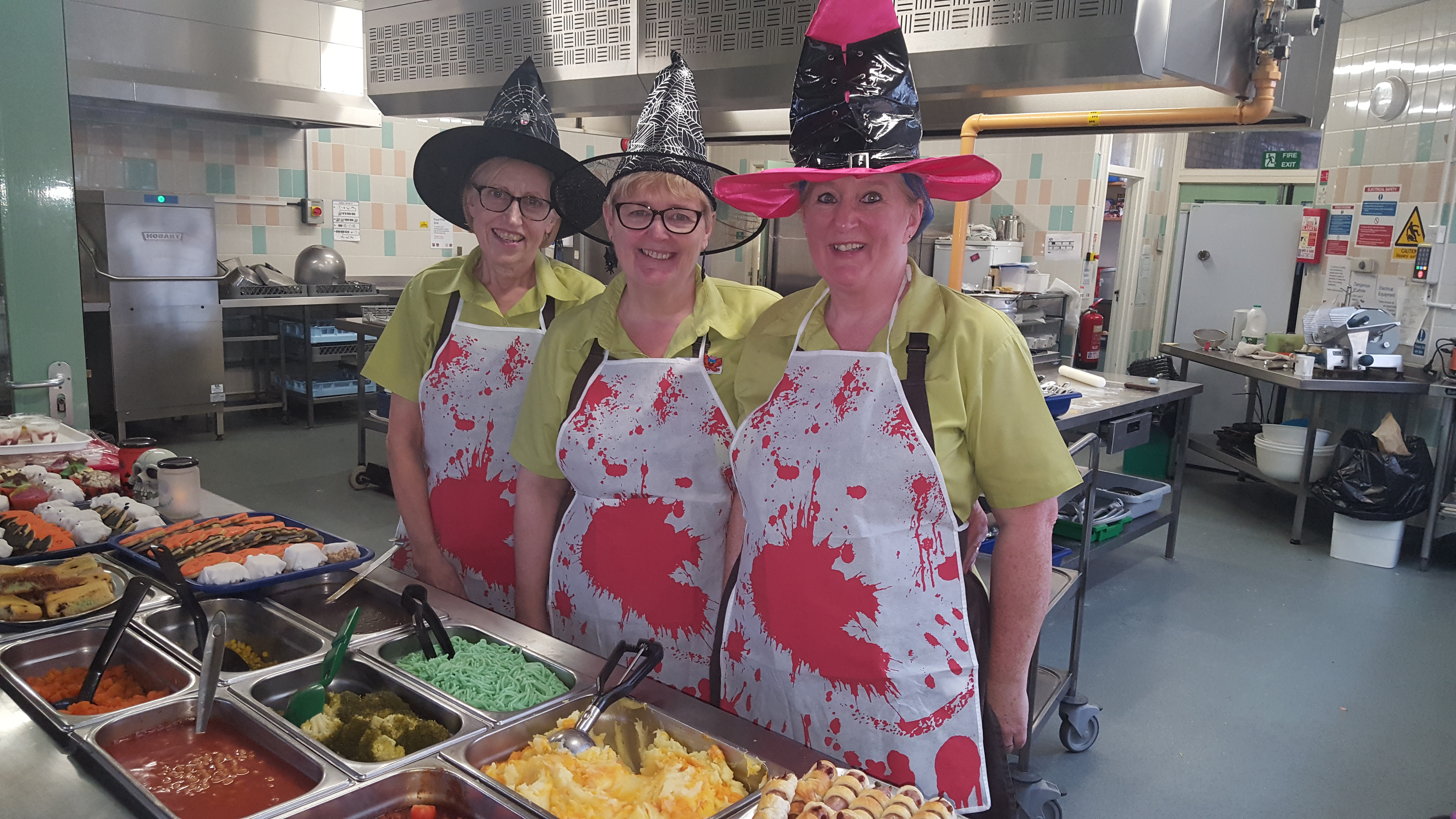 Halloween staff at New Marske Primary